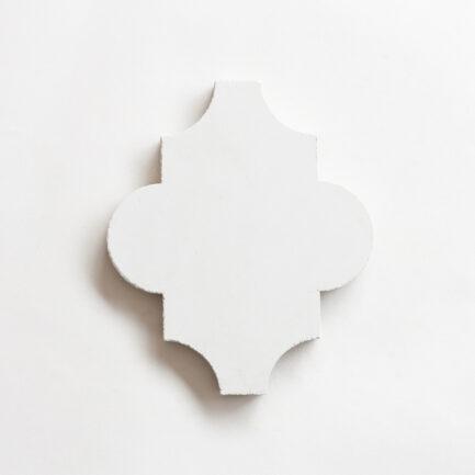 Mosaico Hidráulico Encaustic cement tile Arabesque Branco White