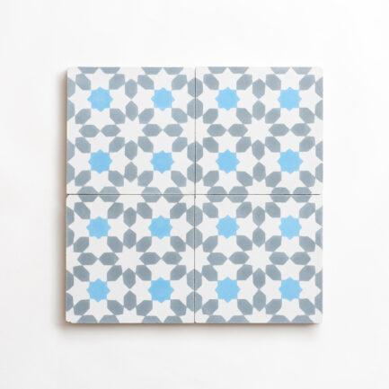 Mosaico Hidráulico Encaustic cement tile Winter Cordoba Blue Grey White