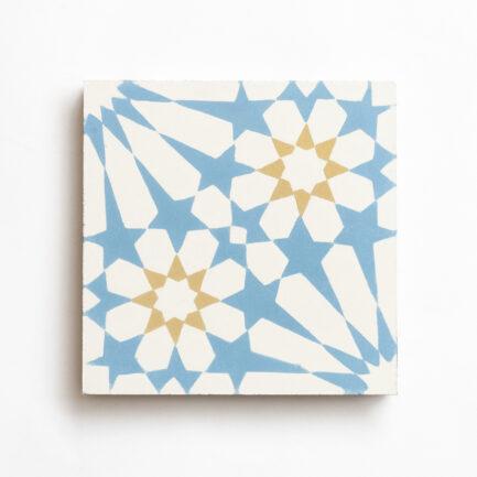 Mosaico Hidráulico Alhambra Azul e Areia Encaustic cement tile Blue and Sand