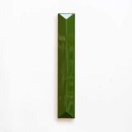 Azulejo vidrado 3D Retangular 5x30 Seaweed Green - 5x30 Rectangle 3D Glazed Tile Seaweed Green