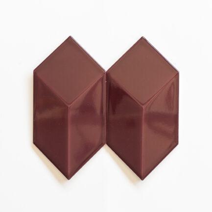 Azulejo Cubo - 3D Cube Glazed Merlot Red AZACC1212LB1E07Z - Loja do Azulejo - Tiles shop online-2