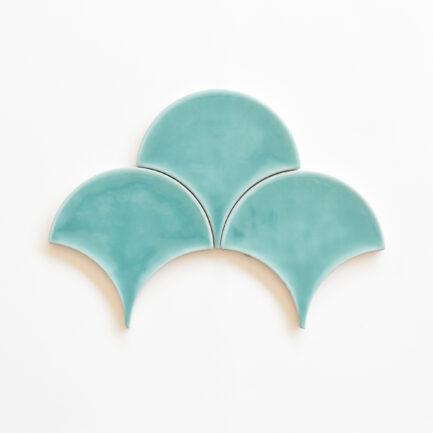 Azulejo Escama Turquoise Green - Scale Tile Turquoise Green colour - Loja do Azulejo - Tiles shop online