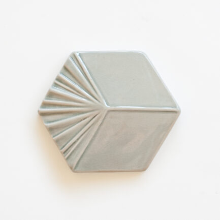 Azulejo Hexagonal Cube Cloud Grey - Hexagonal Glazed Tile  AZTTH1316LBMCCGREY - Loja do Azulejo - Tiles Shop-2