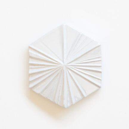 Azulejo Hexagonal Stripes White Perl - Hexagonal Glazed Tile AZTTH1316LBMSWPERL - Loja do Azulejo - Tiles Shop-1