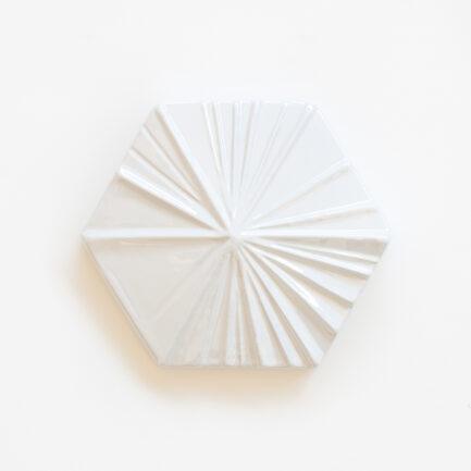 Azulejo Hexagonal Stripes White Perl - Hexagonal Glazed Tile AZTTH1316LBMSWPERL - Loja do Azulejo - Tiles Shop-2