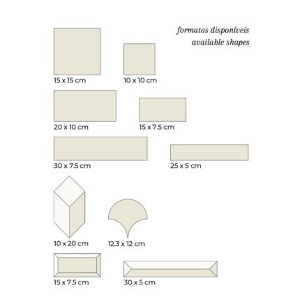 Formatos Azulejo AC Existing Shapes Tiles AC - Loja do Azulejo - Tiles Shop online