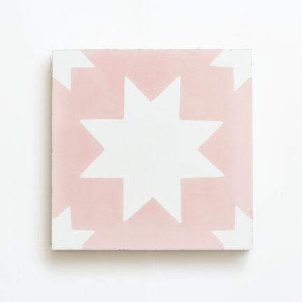 Mosaico Hidraulico Pink Bold Star - Cement tile - Loja do Azulejo - Tiles shop online 1