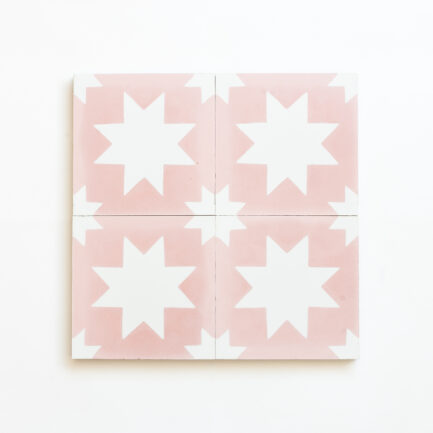 Mosaico Hidraulico Pink Bold Star - Cement tile - Loja do Azulejo - Tiles shop online 2