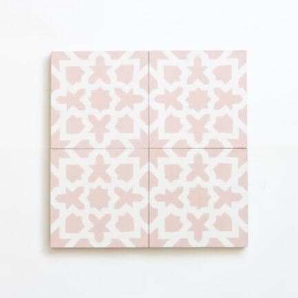 Mosaico Hidraulico Pink Mashrabiya - Cement Tile - Loja do Azulejo - Tiles shop online 2